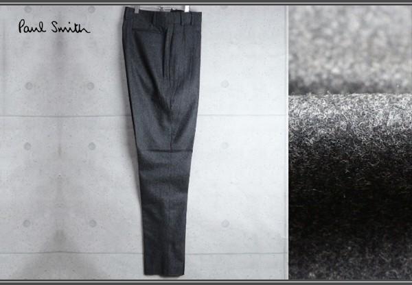 新品 ポールスミス 上質厚手 ウール フランネル スラックス/XXL/濃灰/定価3万パンツ2_画像1
