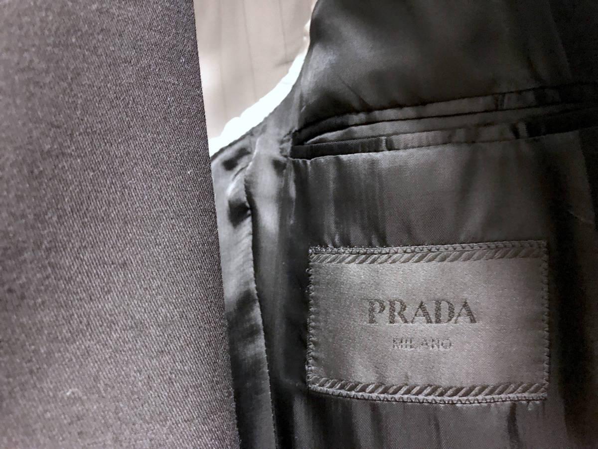 超破格 参考上代40万 新品 PRADA プラダ スーツ 黒 送料無料 冠婚葬祭 ビジネス 純正スーツケース 純正ハンガー ブラック 2B suit メンズ_画像3