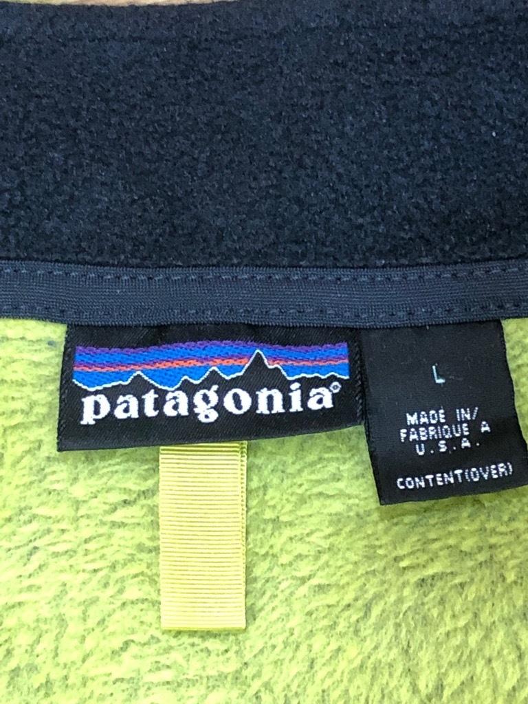 希少 2001年 Patagonia パタゴニア R2 フリース ベスト L グリーンスパーク イエローグリーン R1 R2 R3 R4 R20129_画像5