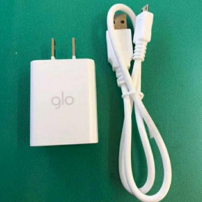 glo純正ACアダプターmicroUSB Type-B ケーブル未使用品 別売、変換アダプターと併用しますとType-C iPhoneにも使える。5V2A急速充電可能!_画像1