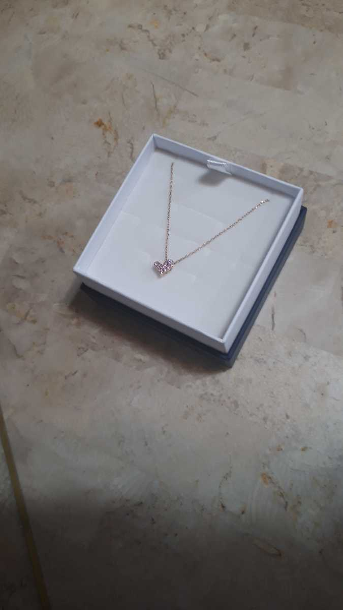 ジュエリーツツミ K10ピンクゴールドピンクサファイアネックレス 華奢アクセサリー 箱 紙袋つき プレゼントにも_画像6