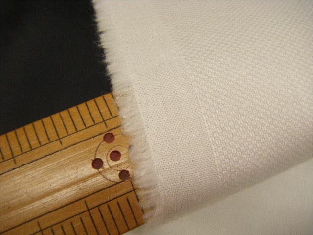 ☆即決☆ Z19 生地・ハニカムストレッチ・綿・ポリウレタン・白・ホワイト・110cm巾・2.7m価格_画像2