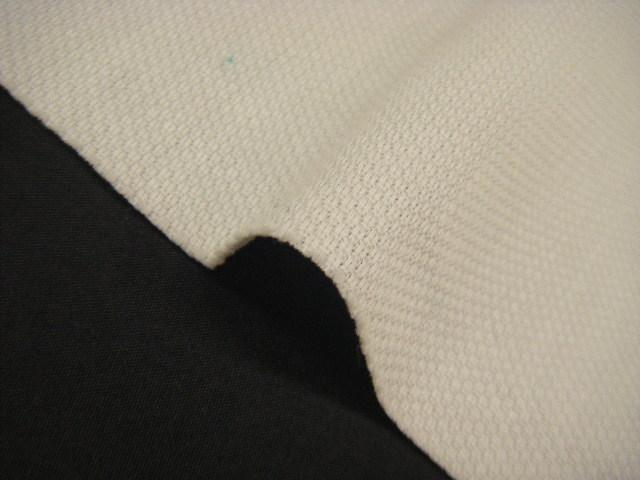 ☆即決☆ Z19 生地・ハニカムストレッチ・綿・ポリウレタン・白・ホワイト・110cm巾・2.7m価格_画像3