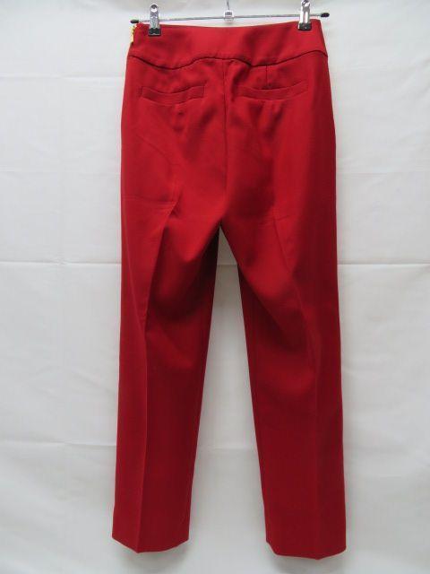 美品 Pinky&Dianne ピンキー&ダイアン パンツ サイズ36 赤 サイドファスナー クリーニング済_画像3