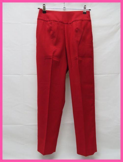 美品 Pinky&Dianne ピンキー&ダイアン パンツ サイズ36 赤 サイドファスナー クリーニング済_画像1