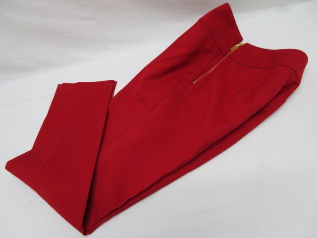 美品 Pinky&Dianne ピンキー&ダイアン パンツ サイズ36 赤 サイドファスナー クリーニング済_画像8