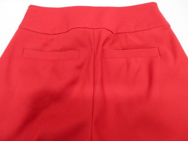 美品 Pinky&Dianne ピンキー&ダイアン パンツ サイズ36 赤 サイドファスナー クリーニング済_画像7