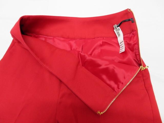 美品 Pinky&Dianne ピンキー&ダイアン パンツ サイズ36 赤 サイドファスナー クリーニング済_画像5