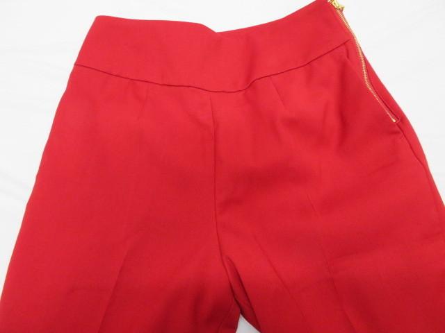 美品 Pinky&Dianne ピンキー&ダイアン パンツ サイズ36 赤 サイドファスナー クリーニング済_画像4