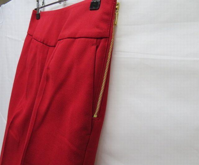 美品 Pinky&Dianne ピンキー&ダイアン パンツ サイズ36 赤 サイドファスナー クリーニング済_画像2