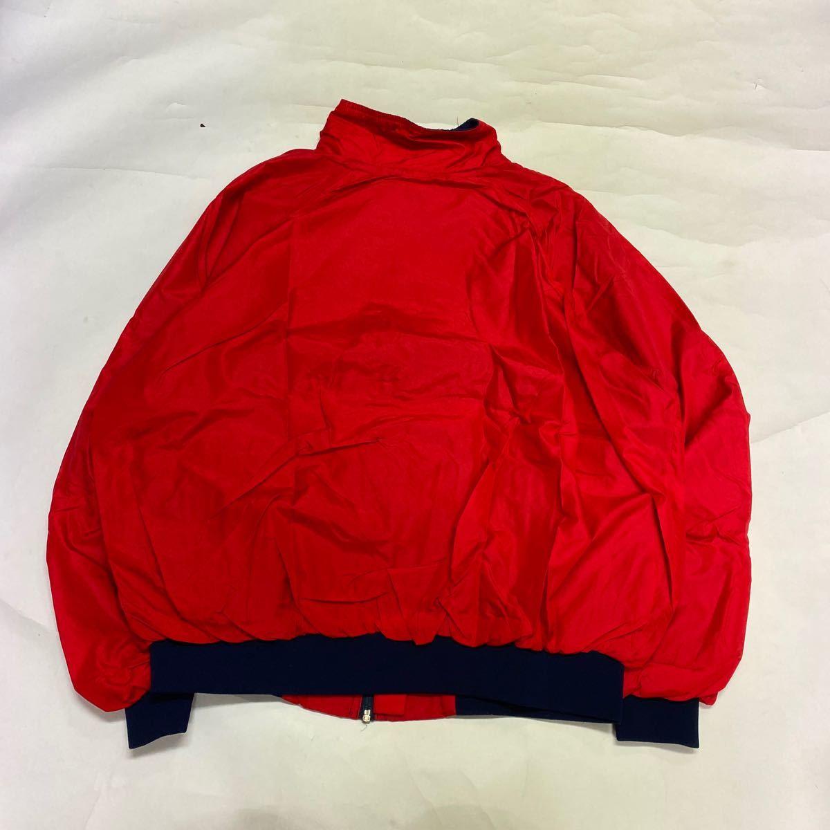 80s patagonia パタゴニア シェルチンジャケット 赤 ネイビー ut3080_画像5