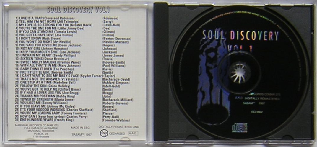 Soul Discovery vol.1~A COLLECTION OF 30 RARE SOUL TRACKS OF THE 60'S/LIMITED EDITION~ルースブラウン/ボビーキング/フレディキング_画像2