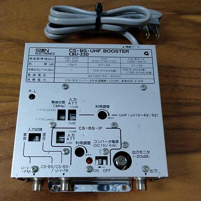 サンエレクトロニクス製 混合テレビ増幅器