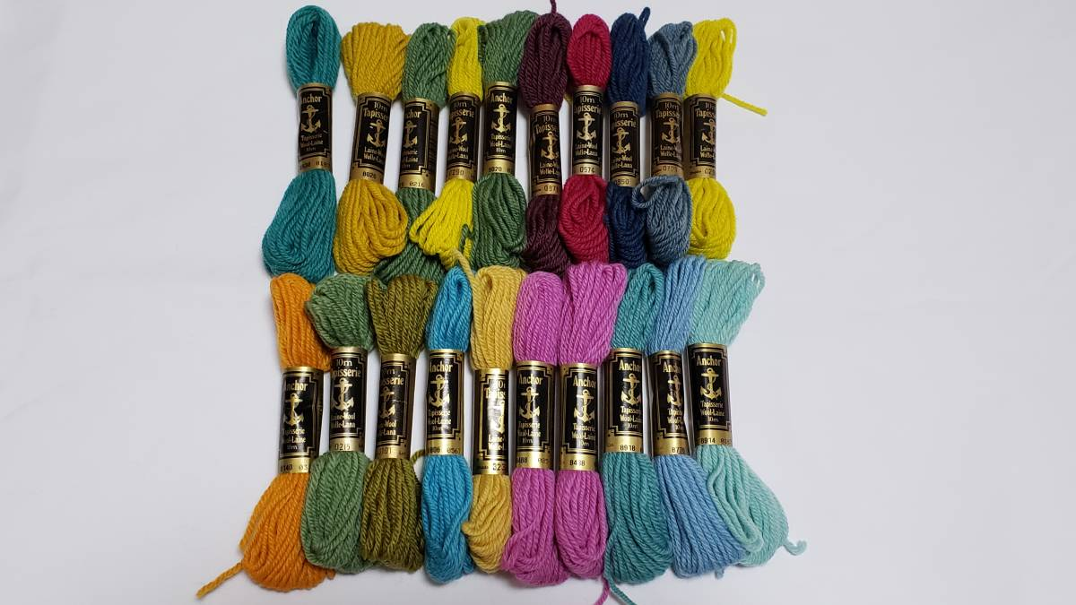 No.295 アンカー糸 TAPESTRY WOOL abchor 金帯 20本 刺繍・こぎん 美品