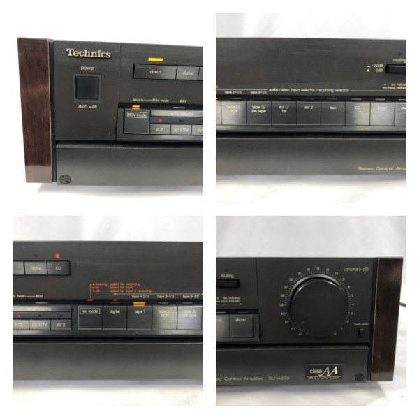 5598 Technics SU-A200 Stereo Control Amplifier classAA VC-4 Amplifier System コントロール アンプ テクニクス_画像7