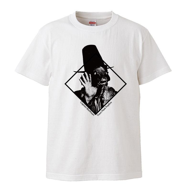 【Lサイズ 白Tシャツ】キャプテンビーフハート Captain Beefheart Trout Mask Replica サイケデリック LP CD ガレージパンク レコード