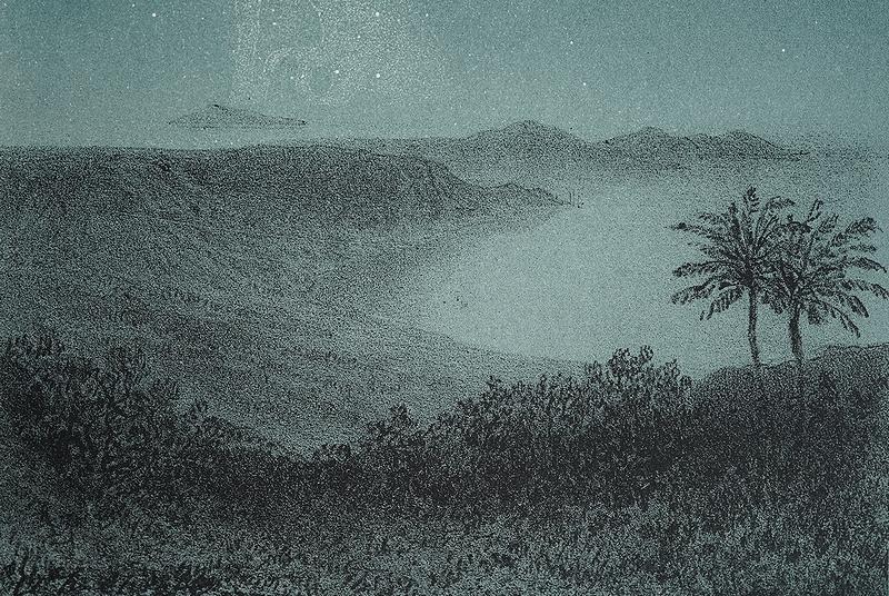 【1865年 アンティーク天文図版 真夜中の星空 フランス 紙もの】星座 天体観測 ビンテージ レトロ ブロカント 天文学 古道具 インテリアに_画像7