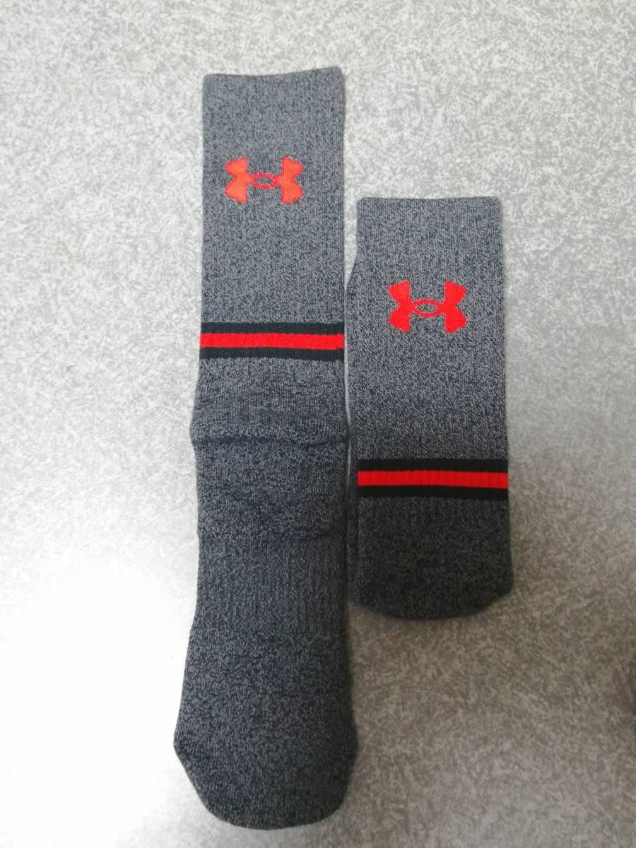 新品 アンダーアーマー UA メンズ UA Phenom 3足set 27cm~29cm トレーニングソックス 靴下 ビッグサイズ Lサイズ 野球ソックス サッカー_画像3