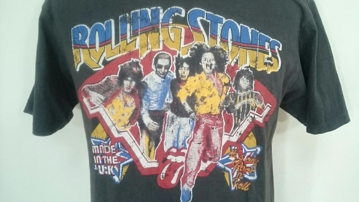 90's 90年代 サイズ不明【THE ROLLING STONES/ローリングストーンズ】MENS/メンズ 男性用 半袖 バンドTシャツ ヴィンテージ ビンテージ