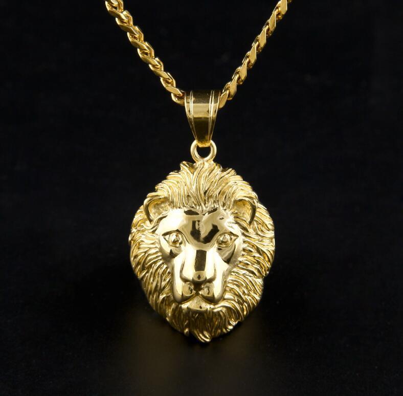 【定価2万】【特A品】※即日発送※ライオン 獅子 ステンレス鋼 インゴット ネックレス メンズ 男女兼用 新品 ゴールド