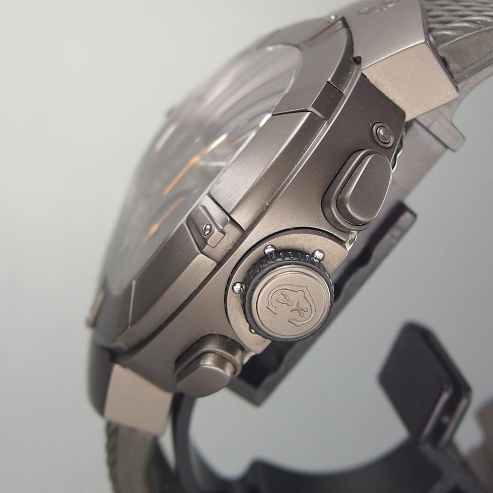 【希少 クロノ デイデイト 美品】CHARRIOL シャリオール CELTICA セルティカ C44GM.174.004 QZ SSxラバー メンズ 腕時計 ギャラ/取説/箱付_画像4