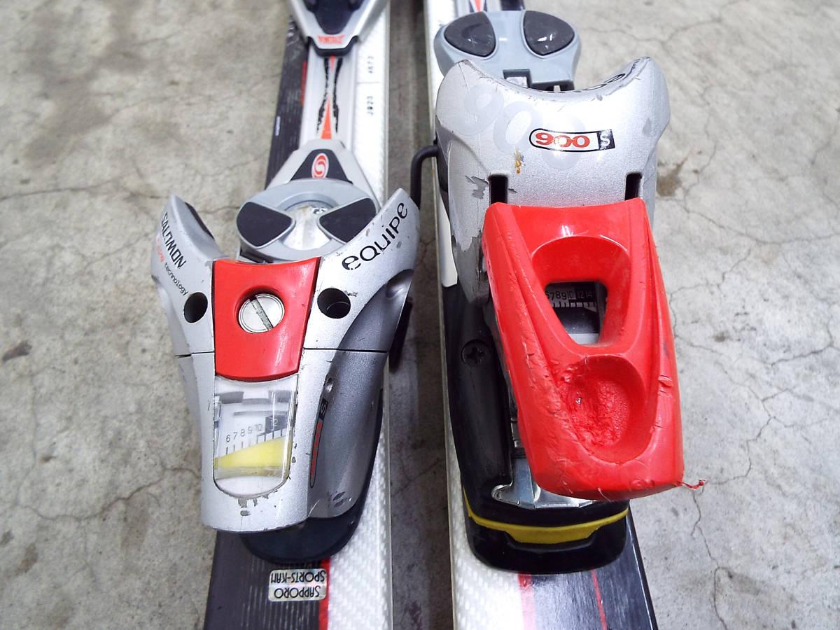 SALOMON/サロモン カービング スキー 板 SUPERAXE 3V 176cm ビンディング サロモン equipe/エキップ 900S 引取歓迎 札幌 _画像8