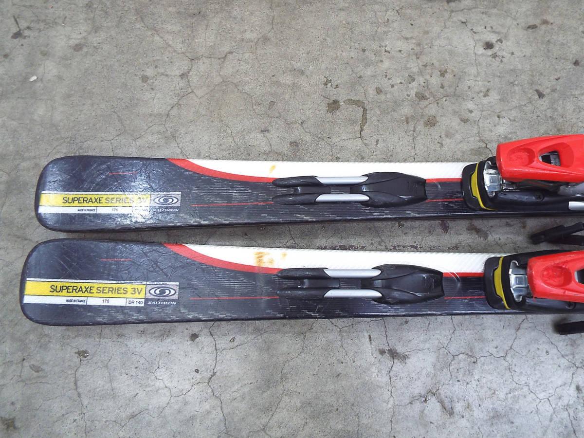 SALOMON/サロモン カービング スキー 板 SUPERAXE 3V 176cm ビンディング サロモン equipe/エキップ 900S 引取歓迎 札幌 _画像6