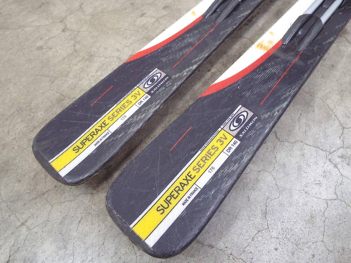 SALOMON/サロモン カービング スキー 板 SUPERAXE 3V 176cm ビンディング サロモン equipe/エキップ 900S 引取歓迎 札幌 _画像10