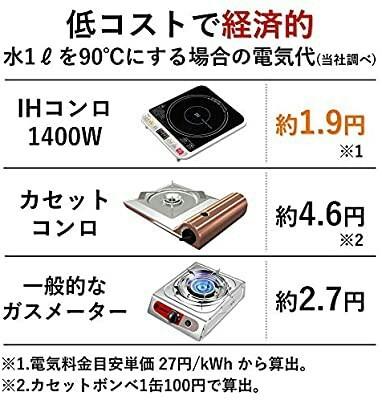 新品未開封 IH クッキングヒーター IH 卓上ハイパワー1400 W