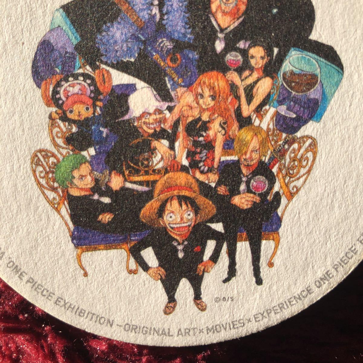 ワンピース 非売品 ワンピース展 コースター 麦わらの一味 ルフィ ナミ ロビン サンジ ゾロ チョッパー フランキー ブルック ウソップ