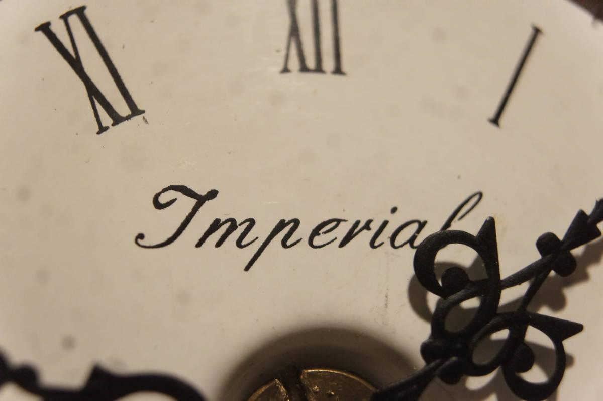 イタリア製  インペリアル オルモルブロンズ 手書き磁器(作者のサイン有り) 装飾時打ち8日巻きテンプ式置き時計可動品_画像5