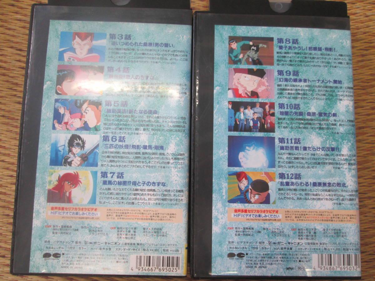 ① レンタル落ちビデオテープ 幽遊白書 レトロアニメ_画像3