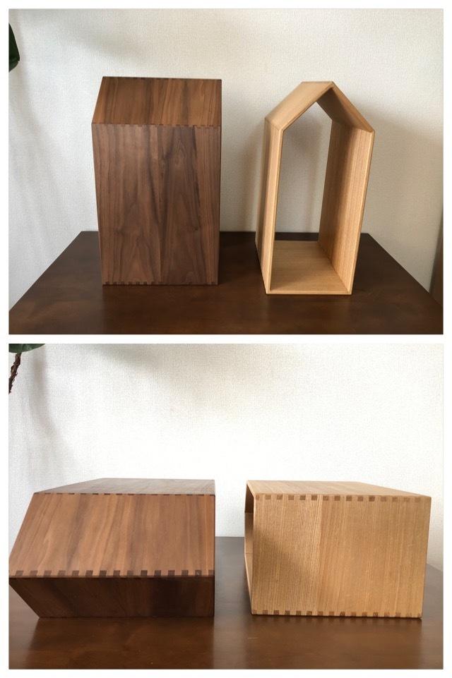 天然木の本棚 ブックハウス 本の家_組みつぎ加工で製作しています。