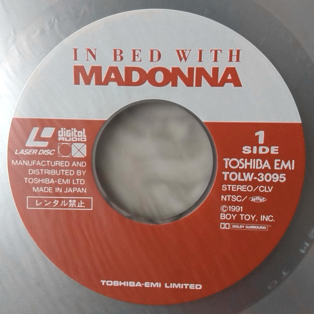 LD MADONNA ON BED WITH ★LIKE A VIRGIN / VOGUE etc 収録 ★ マドンナ ドキュメンタリー ★ レーザーディスク [4082RP_画像5