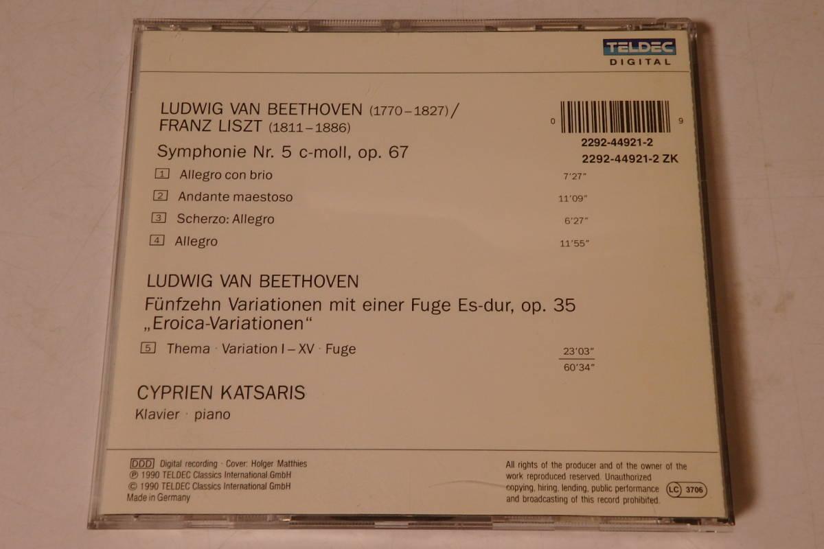 506 クラシック CD ベートーヴェン リスト編曲 交響曲 第5番「運命」 ピアノ ヴァイオリン 交響曲 管弦楽 協奏曲_画像2