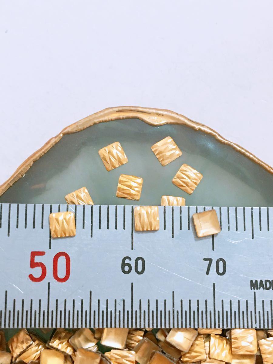 ネイルパーツ スクウエアゴールド3mm 約900個