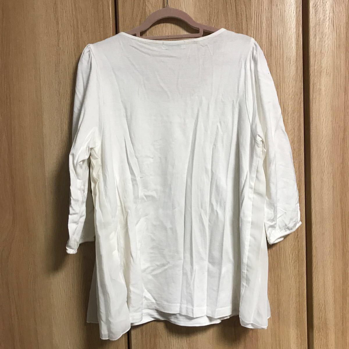 トップス Tシャツ カットソー 七分袖 2枚セット earth