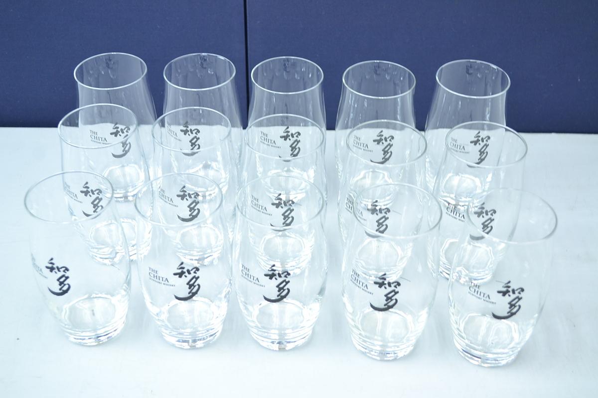 B401■ウィスキーグラス(タンブラー)15個セット■THE CHITA SUNTORY WHISKY_画像1