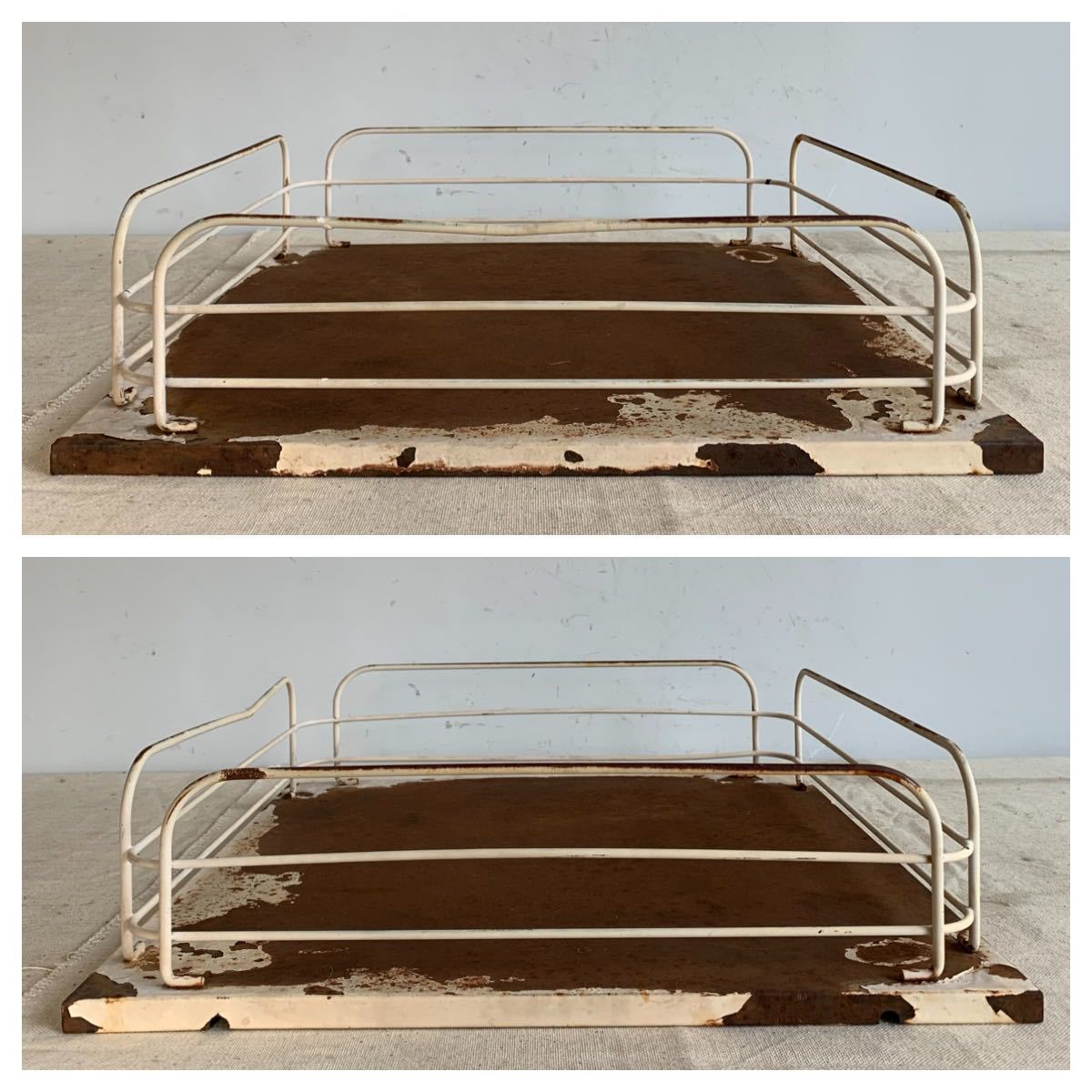 デザインが素敵な鉄製展示台 アイアンインテリアディスプレイ古道具シャビーアンティークビンテージインダストリアル工業系店舗什器陳列棚_画像2