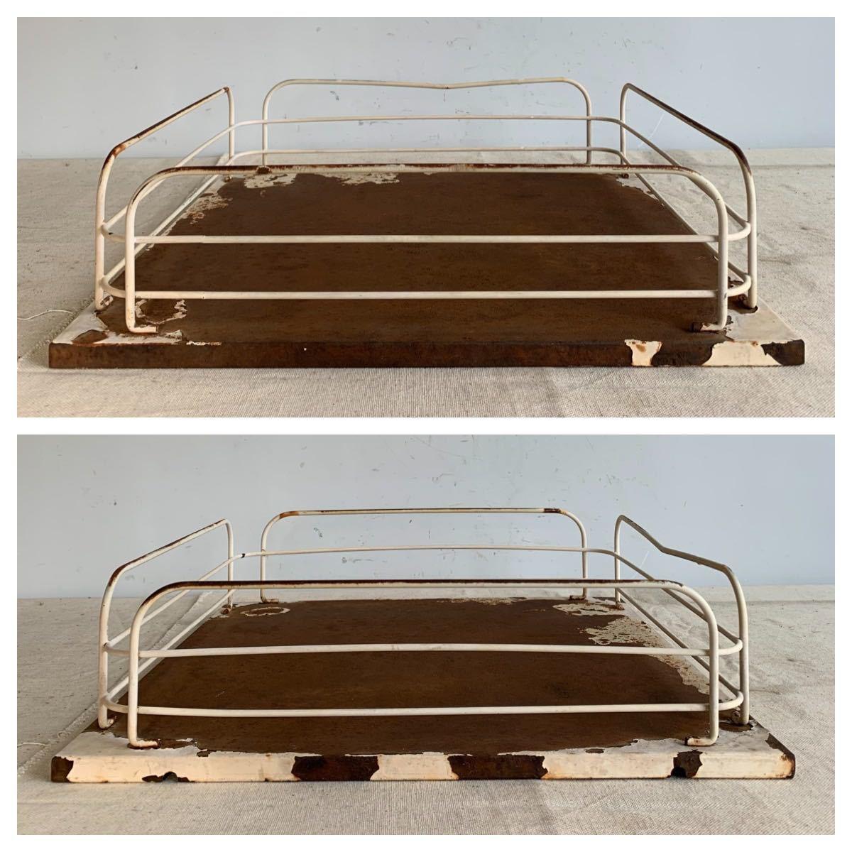 デザインが素敵な鉄製展示台 アイアンインテリアディスプレイ古道具シャビーアンティークビンテージインダストリアル工業系店舗什器陳列棚_画像3
