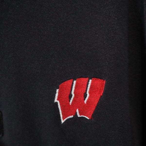 海外仕入 ビッグサイズ チャンピオン トレーナー Champion ハーフジップ ロゴ 刺繍 裏起毛 2XL 黒 スウェット メンズ 200107_画像7