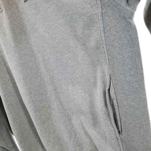 海外仕入 ナイキ 裏起毛 ハーフジップ スウェット トレーナー NIKE ワンポイント刺繍 長袖 XL グレー メンズ 200117_海外仕入 ナイキ 裏起毛 ハーフジッ  詳細4