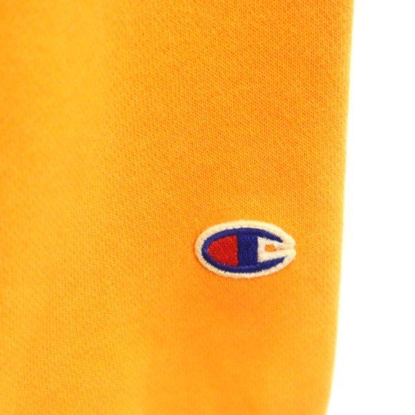 チャンピオン スウェット ジップ パーカー Champion ワンポイント刺繍 長袖 L オレンジ メンズ 200123_画像8