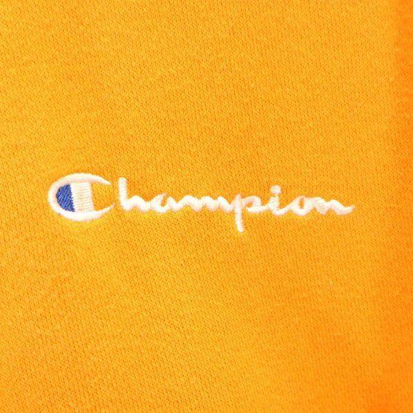 チャンピオン スウェット ジップ パーカー Champion ワンポイント刺繍 長袖 L オレンジ メンズ 200123_チャンピオン スウェット ジップ パ  詳細4