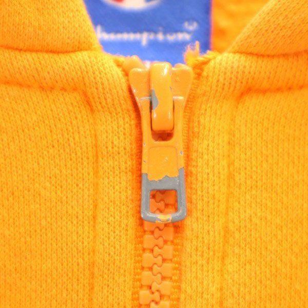 チャンピオン スウェット ジップ パーカー Champion ワンポイント刺繍 長袖 L オレンジ メンズ 200123_チャンピオン スウェット ジップ パ  詳細3