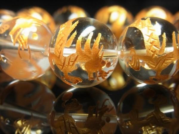 風水神 パワーストーン 黄金 五本爪 皇帝龍 本水晶 クリスタル ブレスレット 18mm 天然石 数珠 願望成就 メンズ プレゼント ギフト 贈り物_画像10