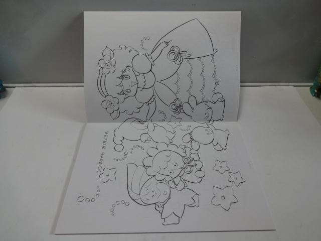 当時物  昭和レトロ  森の妖精 アーヌちゃん ぬりえ ショウワノート 日本製 デッドストック _画像5