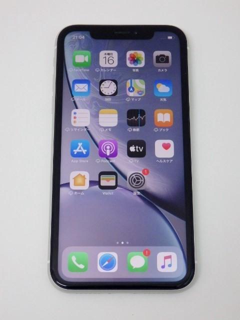 SIMフリー iPhone XR 128GB ホワイト バッテリー95% au 判定〇 MT0J2J/A SIMロック解除済_画像2