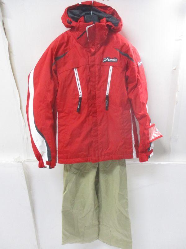 △フェニックス PHENIX スキーウェア 上下セット レディース M~Lサイズ 赤×茶 C2△