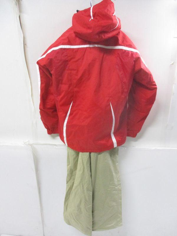 △フェニックス PHENIX スキーウェア 上下セット レディース M~Lサイズ 赤×茶 C2△_画像2